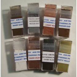 Pulver-Farben zum verwittern Set mit 8 Farben_10534