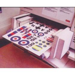 White Decal Film - für Laser Drucker (3 Blatt)_11161