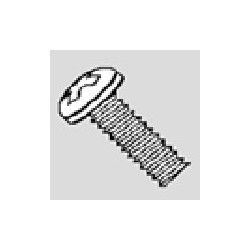 82423 Schraube 2.0 x 6 Zylinderkopf, nickel (20)_12150