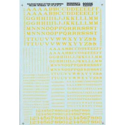 460-90006 HO Railroad Roman letter and nr yellow_12857