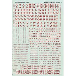 460-90005 HO Railroad Roman letters and nr red_12859