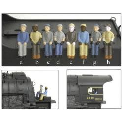 HO Engineer & Fireman Figure Sets (4) a-d_13014