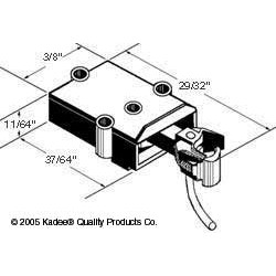 380-807 On3-Scale Coupler - dark brown_1375