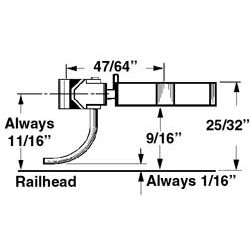 380-805 O-Scale Coupler with gear box (metal)_1377