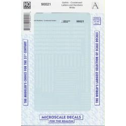 460-90021 Gothic-Condensed letteres & Nr white_14360