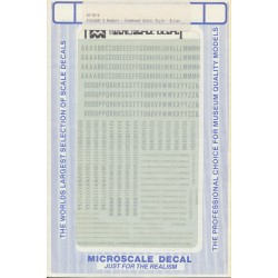 460-90024 Gothic-Condensed letteres & Nr silver_14368
