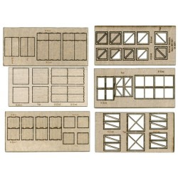 509-84001  HO Large Crates, Laser Cut Wood_14617