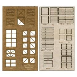 509-84000  HO Small Crates, Laser Cut Wood_14619
