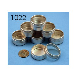 """MXT-1021 10 Metal Containers 1-1/4"""" (3cm)_14866"""