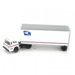 140-93252 HO USPS Tractor & 28' Pup Trailer_15583