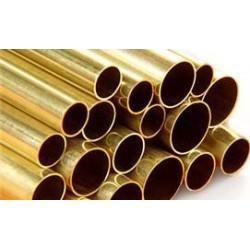 Messing Rohr 6,40 x 889 mm WS 0,355 mm (1 Stück)_16006