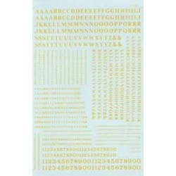 460-90036 HO Roman - Condensed Letters & Nr_16039