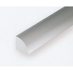 Polystyrol Viertelrund 35cm 0.75 mm 5 Stk_166