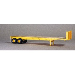 437-5010 HO 40' Trailmobile Flatbed Trailer yellow_16777