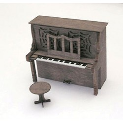 464-23008 HO Upright Piano & Stool_16922