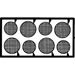 DTM-2031 1/24 Round Headlight Screens_17593