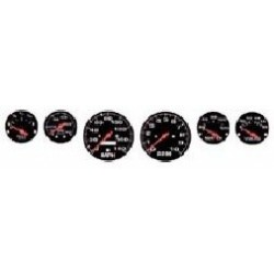 DTM-2301 1/24 Black Background Street Rod Gauges_17619