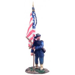 wbr-31099 1/30 Union Infantry Iron Brigade Flagbea_17949