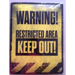 Wandblech Warning! Restricted-Area-Keep out!_18109