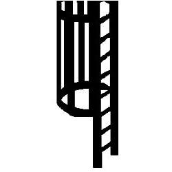 570-90431 HO Cage & Ladder Set_19417