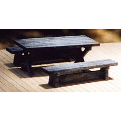 464-23018 HO Logger (Picnic) Table Kit_19604