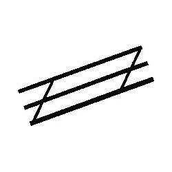 570-90483 O Stair Rail 24 cm_19667