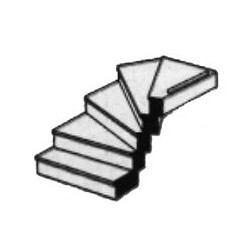 570-90943 O (1:48) Left Turn Staircase_19731