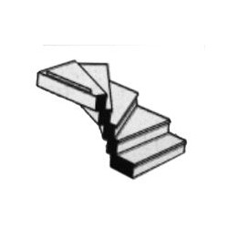 570-90945 O (1:48) Right Turn Staircase_19736