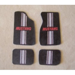 "PTD-102 1/25 Floor Mat Set ""Mustang""_20403"
