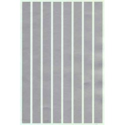 """460-PS-4-1/2 Parallel stripes silver 1/2"""" wide_21248"""