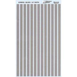 """460-PS-4-1/4 Parallel stripes silver 1/4"""" wide_21251"""