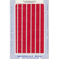 """460-PS-5-1/2 Parallel stripes red 1/2"""" wide_21258"""