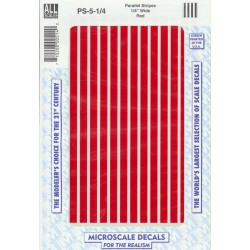 """460-PS-5-1/4 Parallel stripes red 1/4"""" wide_21260"""