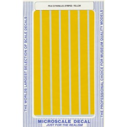 """460-PS-6-1/2 Parallel stripes yellow 1/2"""" wide_21266"""