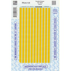 """460-PS-6-1/4 Parallel stripes yellow 1/4"""" wide_21268"""