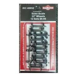 """85-40052 HO Wheelsets 33"""" Semi-Scale_21502"""
