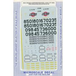 460-48-40 O C&NW C40-8 & SD60 Diesels 1988_21680