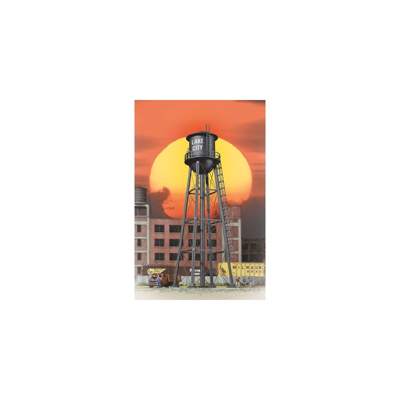 HO City Water Tower (black)_21822