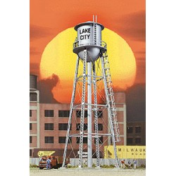 933-2826 HO City Water Tower (silver)_21824