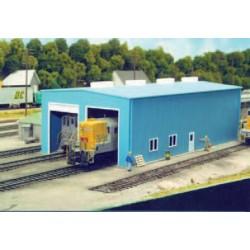 HO Modern 1- or 2-Stall Engine House 14 x 27.9cm_22013