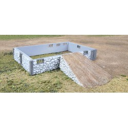 933-3331 HO Fieldstone Barn Base & Ramp_22039