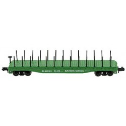 N 50' Flat Car with Stakes BN No 602263_22259