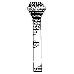 254-18 HO Victorian Chimney  Metall_23472