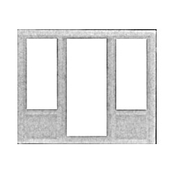 541-1115 HO Door - Window & Center Door Combo_24127