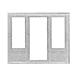 HO Türe mit Fenstern links und rechts_24127
