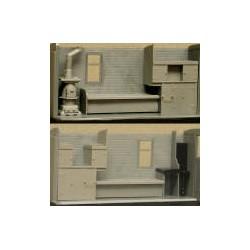 300-3069 On3  C&S Caboose Interior kit_25628