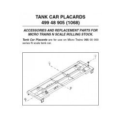 N Tank Car Order Boards 12 ea (1068_25843