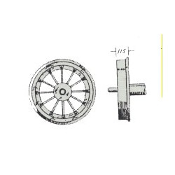 585-31949 HO Wheel sets  Blunt Axle ends_27101