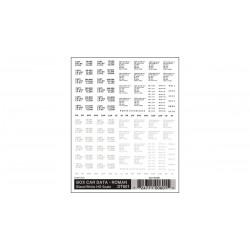 Abreibebilder Box Car Data Roman black & white_2995