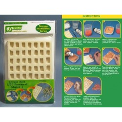 JWM-3003 1:35 Silicone Mold Pavement Stones 1_30516